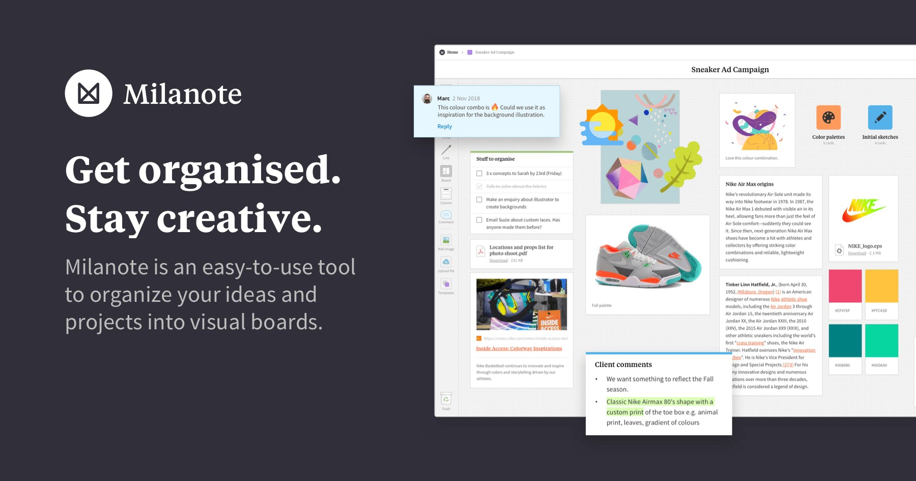 Milanote – the tool for organizing creative projects