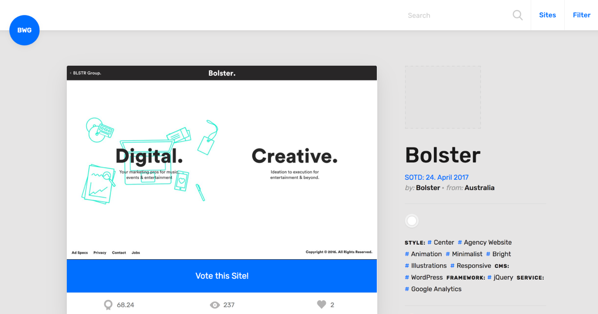17 amazing sources of web design inspiration