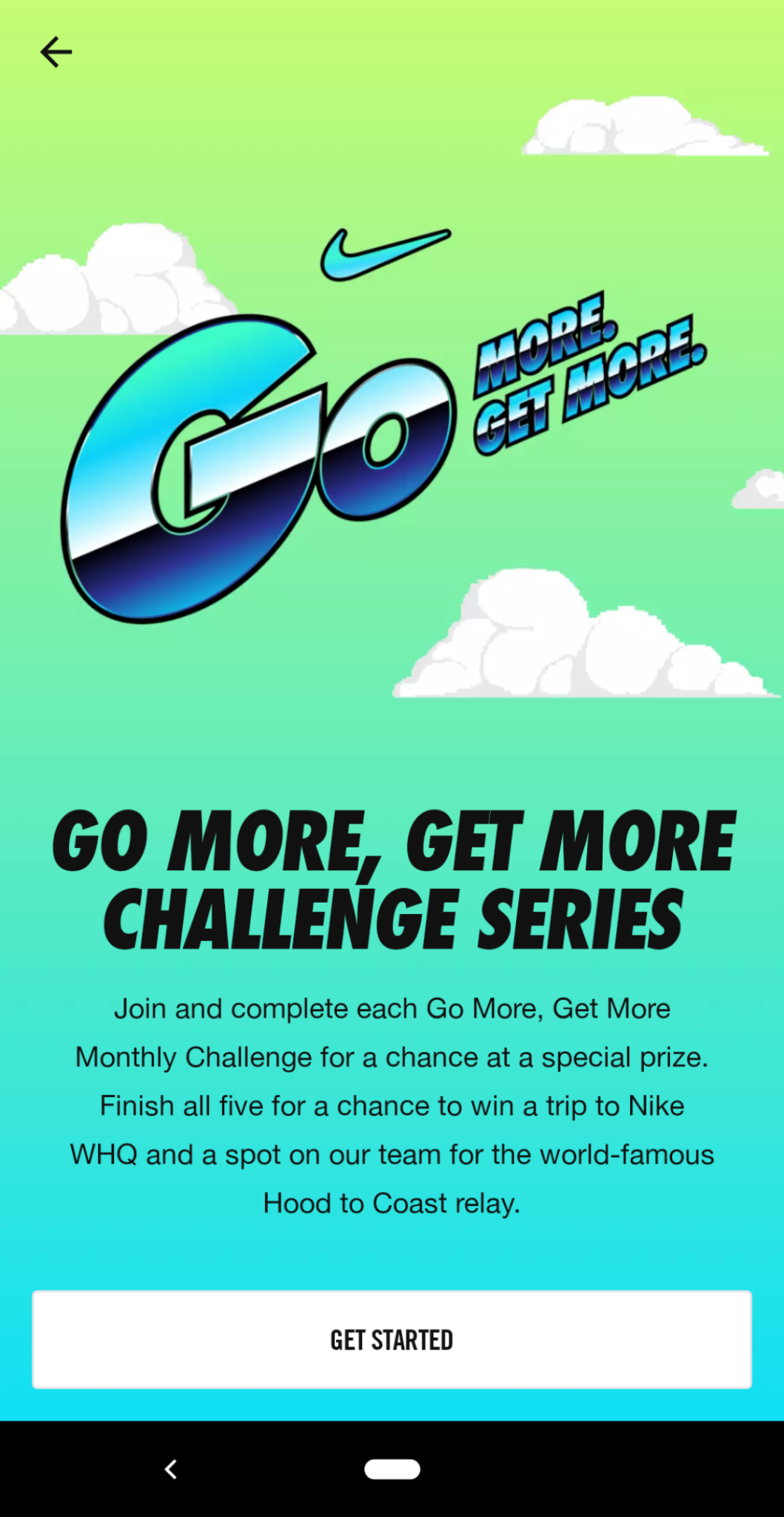 this is a mobile screenshot image of the nike run club app that shows an example of an in-app challenge designed to increase user motivation and engagement