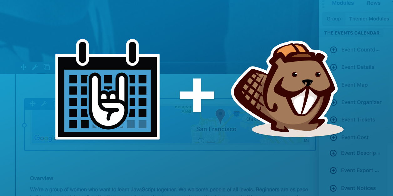 Beaver Builder Integrates with The Events Calendar