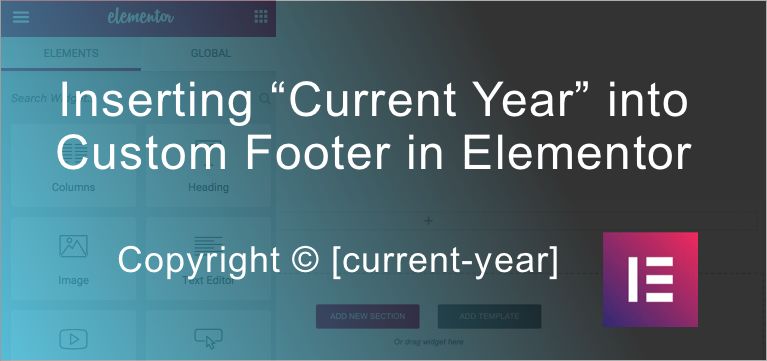 """How to add Dynamic """"Current Year"""" into Footer in Elementor – ZPat WordPress Web Design"""
