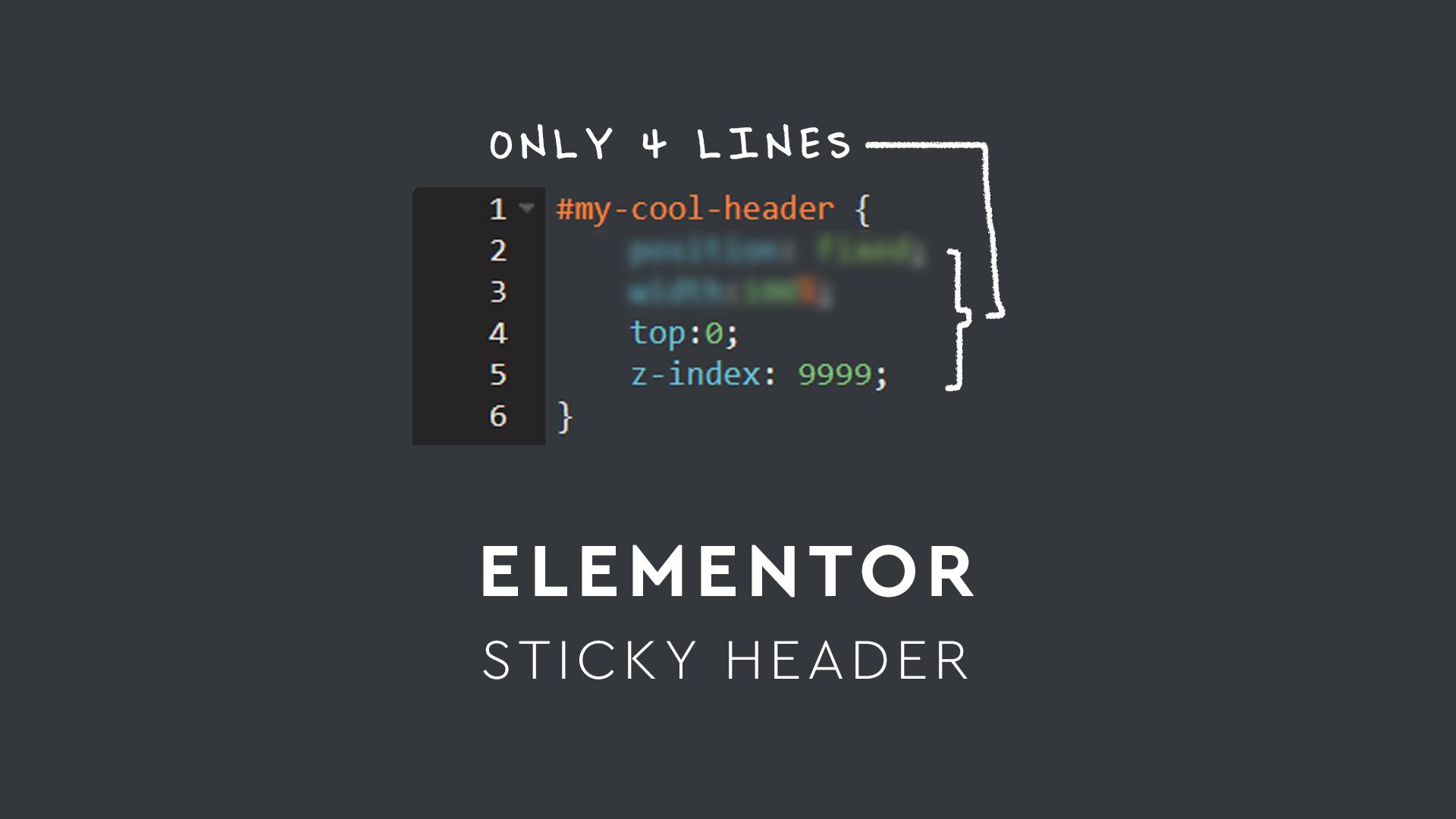 Make A Sticky Header In Elementor (Simplest Method) – Isotropic Design