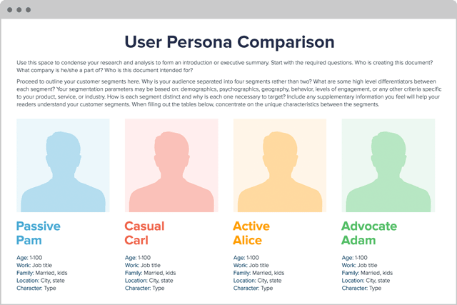 User Persona Creator by Xtensio (It's free!)
