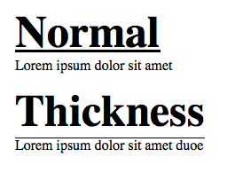 Edit line thickness of CSS 'underline' attibute