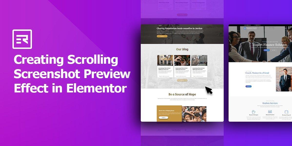 Creating Scrolling Screenshot Preview Effect in Elementor – WpBuilt