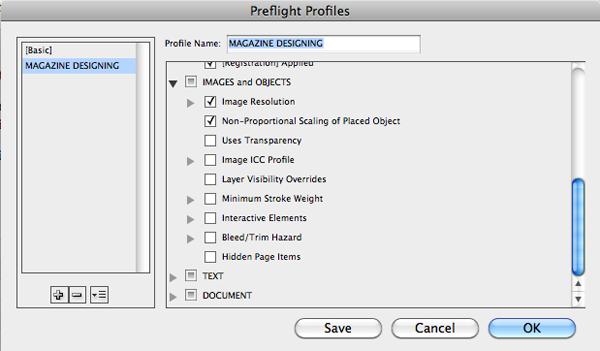 Preflight Option in InDesign | Magazine Designing