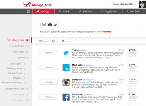 4 Great Tools To See Who Isn't Following You Back On Twitter