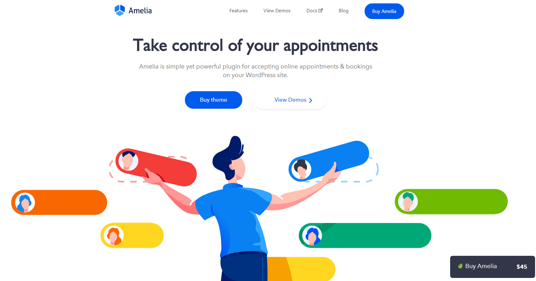 Amelia – WordPress Appointment and Event Booking Plugin