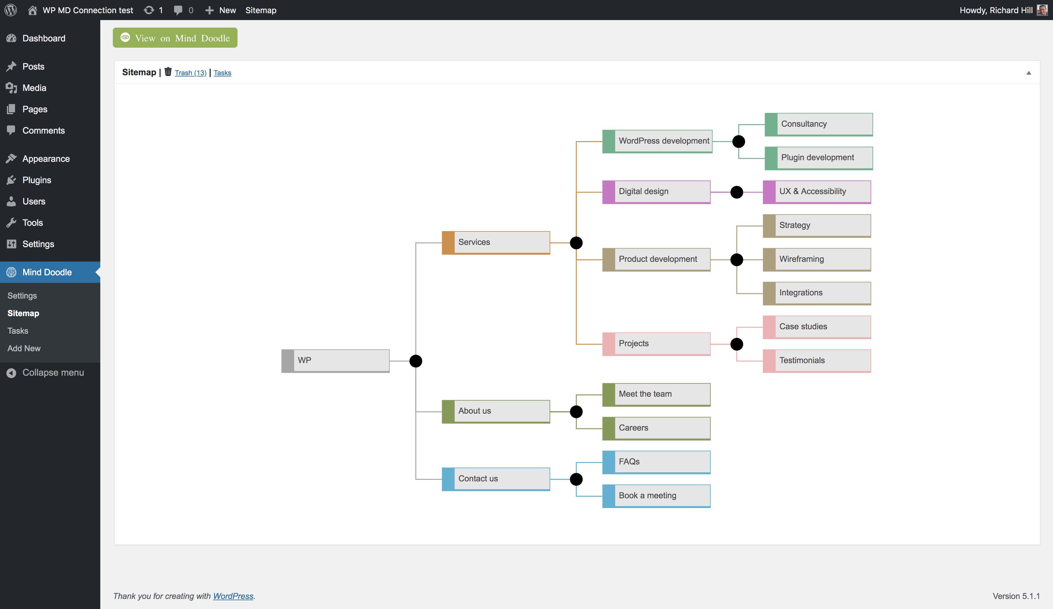 Mind Doodle Visual Sitemaps & Tasks