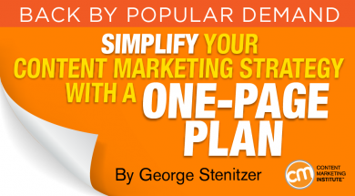 Simplify Your Content Marketing Strategy with a One-Page Plan