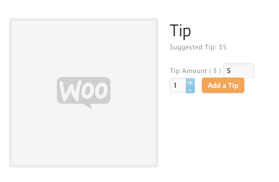 WooCommerce Restaurant Tips