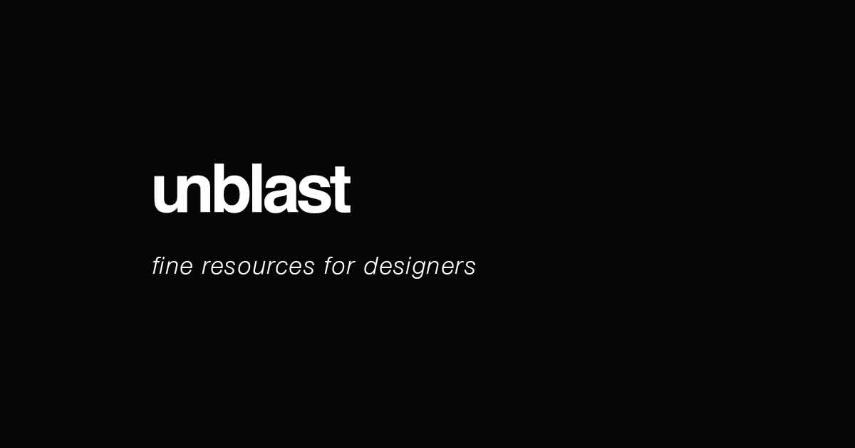 Unblast – Selective Free Design Resources to Download
