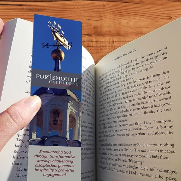 Portsmouth Cathedral, bookmark, graphic design, branding