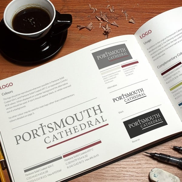 Portsmouth Cathedral branding guidelines document