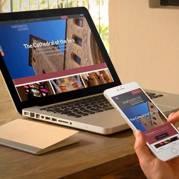 Portsmouth Cathedral, responsive website design