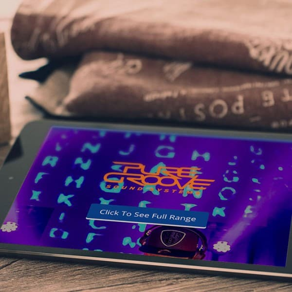 Pure Groove Sound Systems ipad mobile device responsive