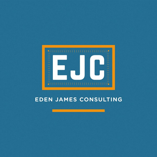 Eden James Consulting identity. Logo, graphic design.