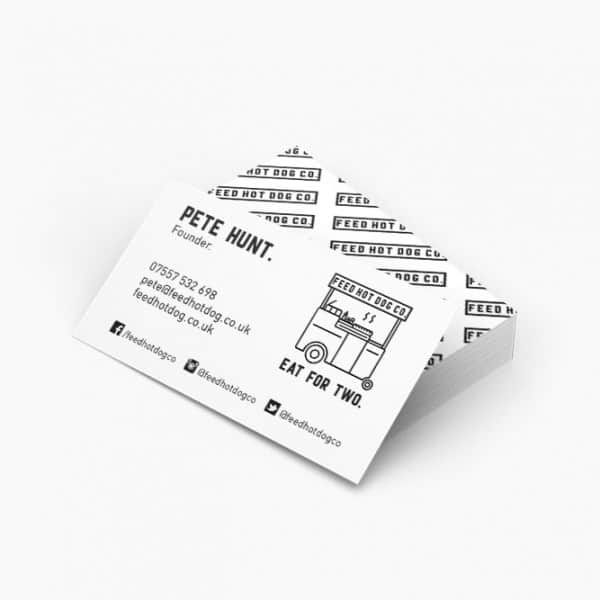 Feed Hot Dog Co business card design, identity