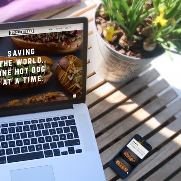 Feed Hot Dog Co, mobile responsive website design, branding