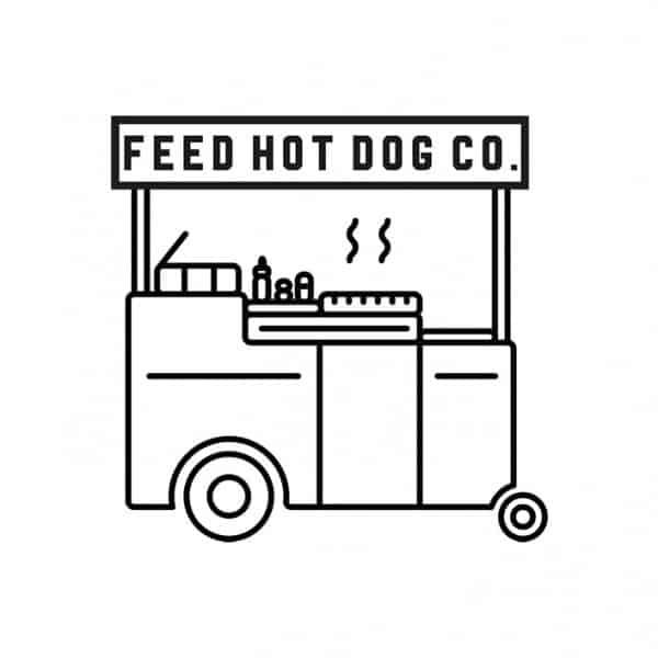 Feed Hot Dog Co, logo, graphic design, identity