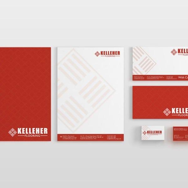 Kelleher, stationary design, graphic design