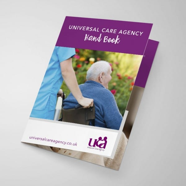 Universal Care Agency, graphic design, layout, booklet