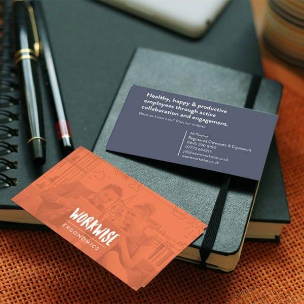 Workwise Ergonomics graphic design, business cards