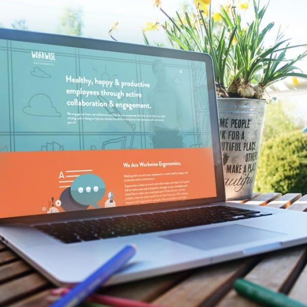 Workwise Ergonomics website design.