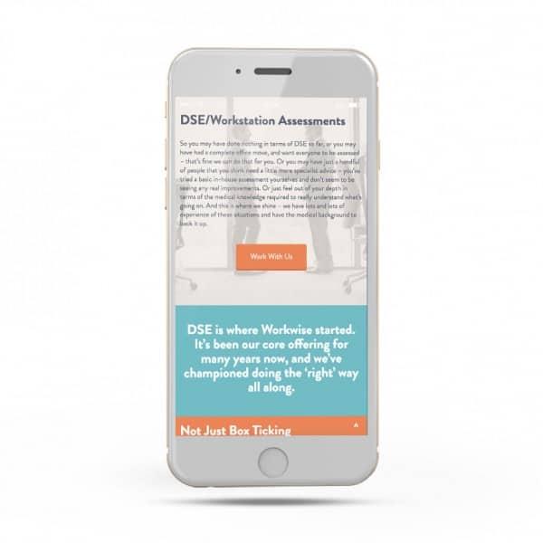 Workwise Ergonomics mobile responsive website