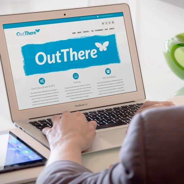 OutThere Recruitment, website design
