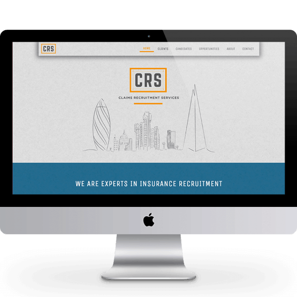 Claims Recruitment Services, homepage header