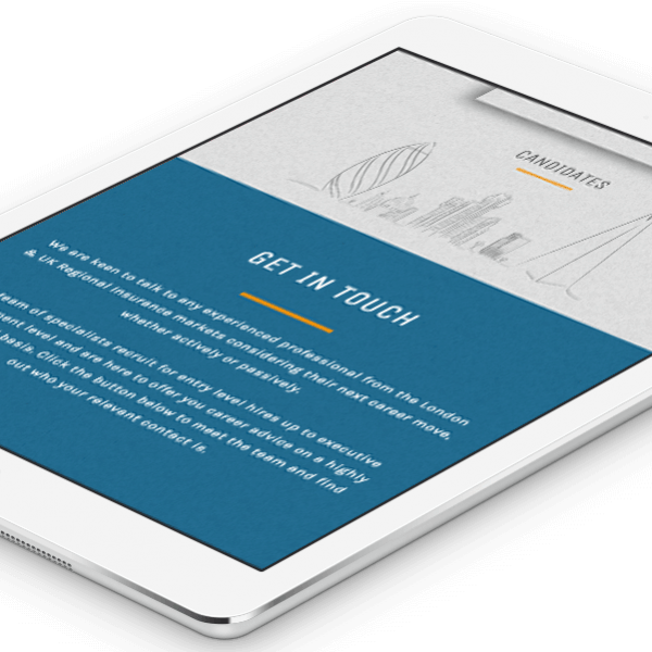Claims Recruitment, mobile responsive website design