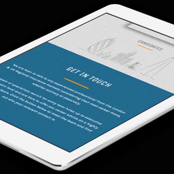 Claims Recruitment, mobile responsive website design