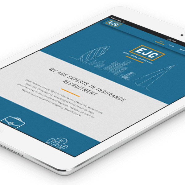 Eden James Consulting, responsive website design