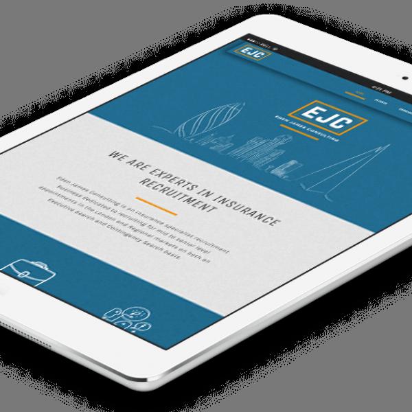 Eden James Consulting, responsive website design