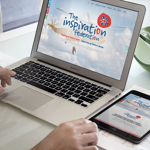 The Inspiration Federation, responsive website design