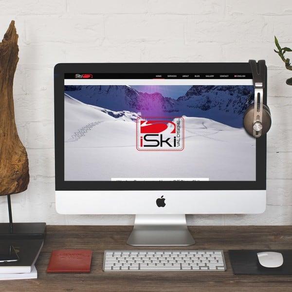 iSki Val parallax scrolling website