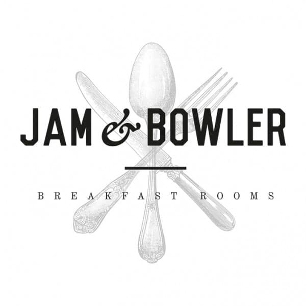 Jam & Bowler Breakfast Rooms, identity design, branding, logo