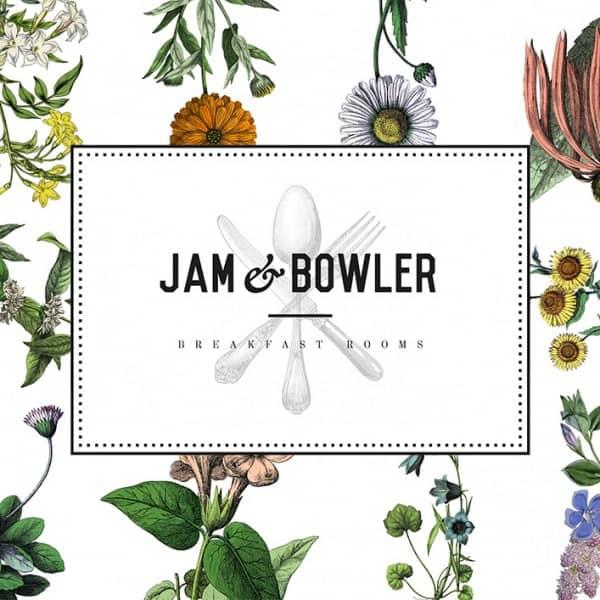 Jam & Bowler Breakfast Rooms, identity design, branding asset, logo