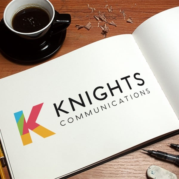 Knights Communications, logo, graphic design