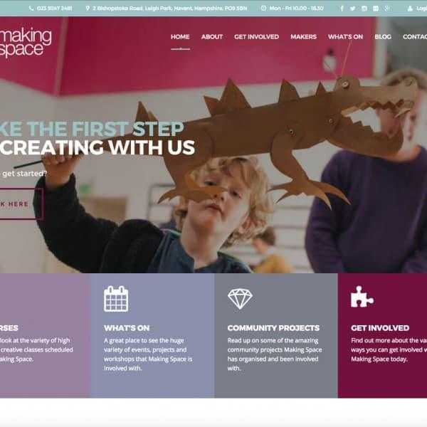 Making Space, homepage header