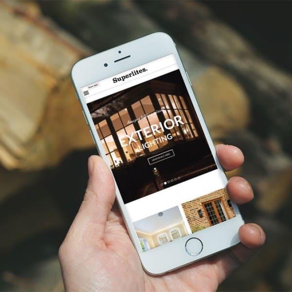 Superlites, e-commerce website design, mobile responsive