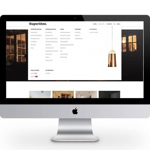 Superlites, e-commerce website design