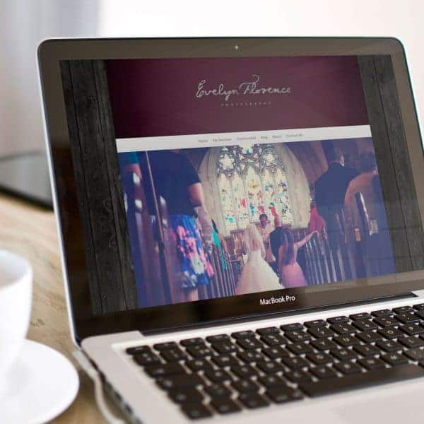 Evelyn Florence Photography website design homepage