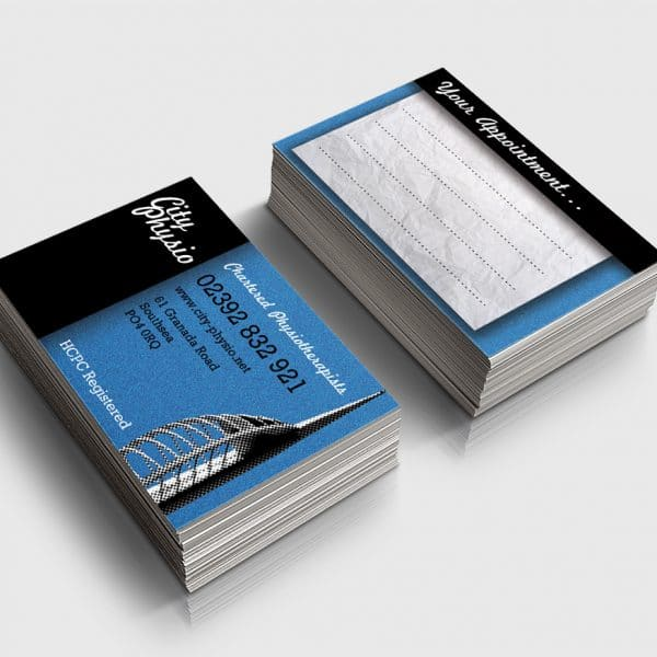 City Physio Portsmouth business cards design