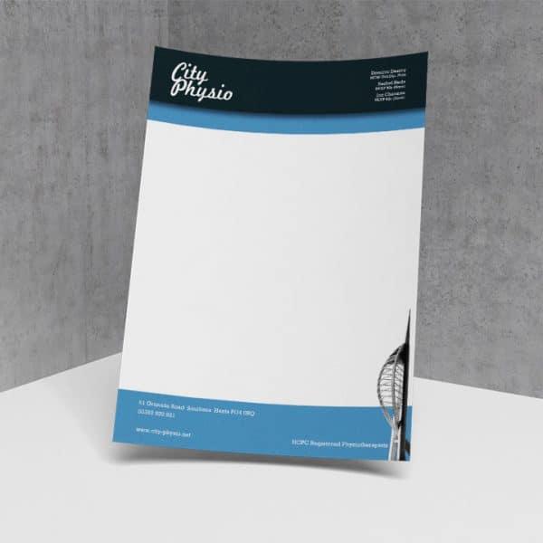 City Physio stationary letterhead design
