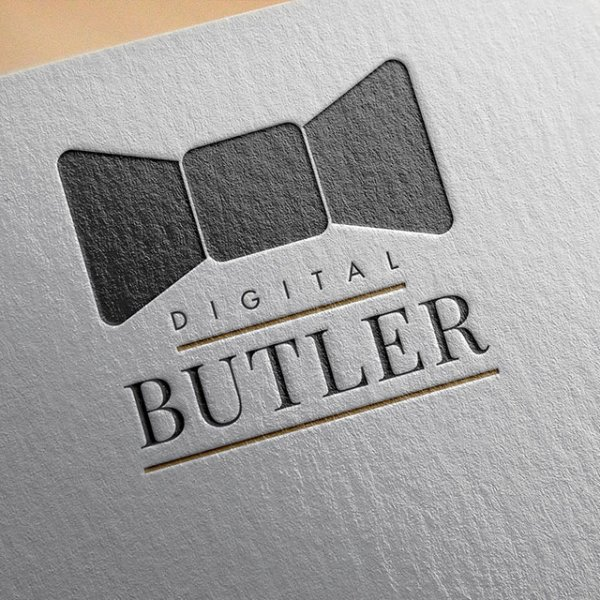Digital Butler home automation solutions logo on textured paper
