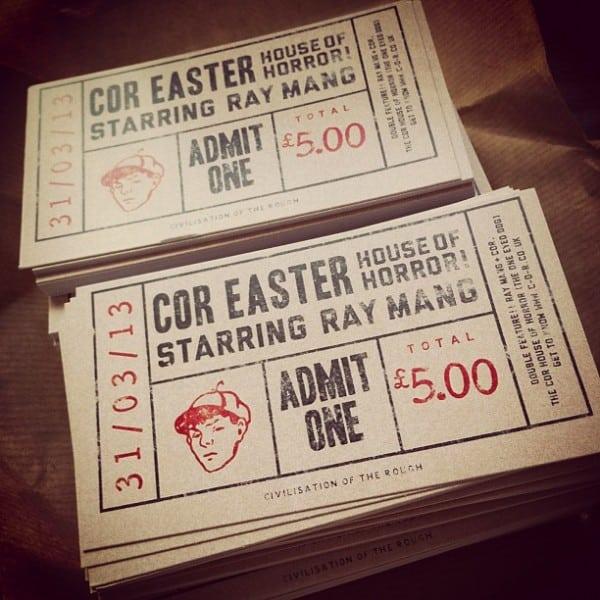 Civilisation of The Rough COR ticket design
