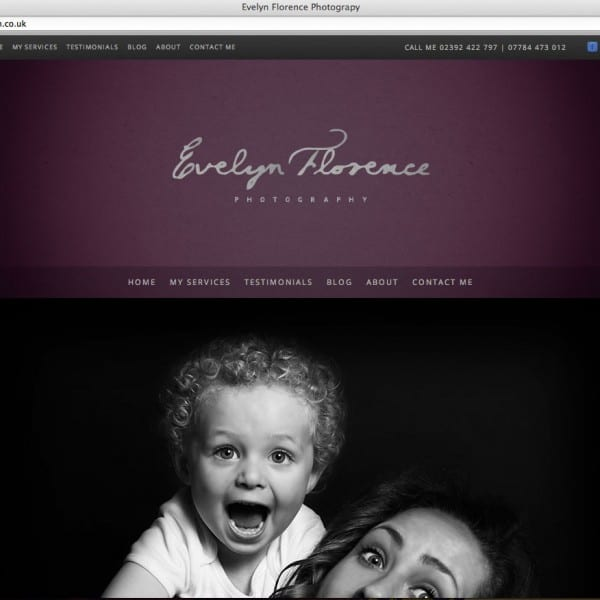 Evelyn Florence Photography website design