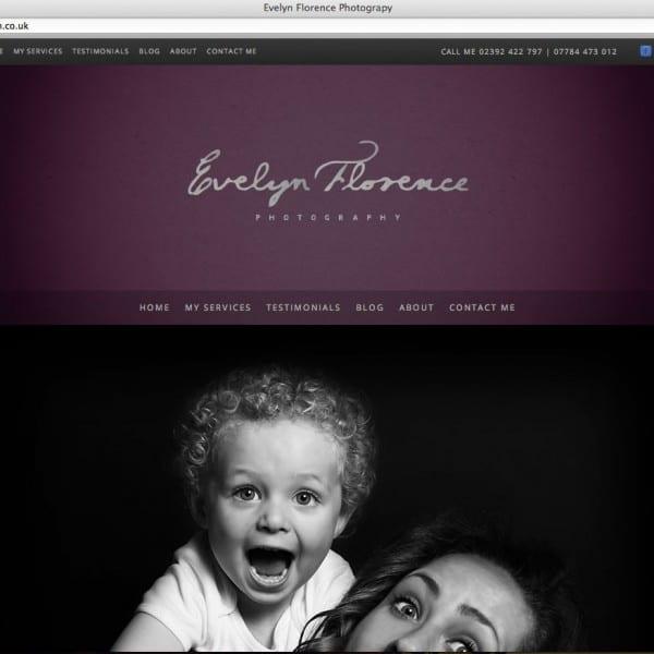 Evelyn Florence Photography website design
